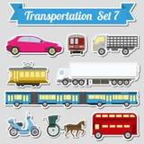 Sistema de todos los tipos de icono del transporte para crear su propio infogr libre illustration
