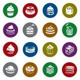 Sistema de tortas Imágenes de archivo libres de regalías