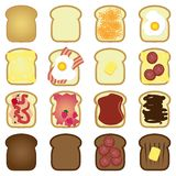 Sistema de tostadas ilustración del vector