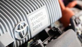 Sistema de Toyota Prius Hybird foto de stock
