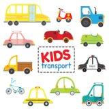 Sistema de transporte de los niños ilustración del vector
