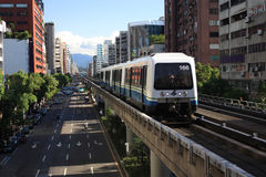 Sistema de transporte do Rapid de Taipei Foto de Stock Royalty Free