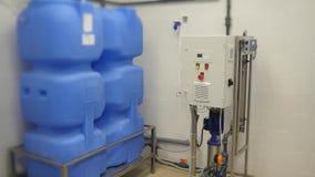 Sistema de tratamiento de aguas Hemodialisis Sistema de tratamiento de aguas de centro médico almacen de video