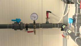 Sistema de tratamiento de aguas interior V?lvulas y bar?metro de los tubos metrajes