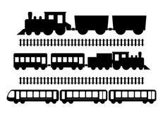 Sistema de trenes stock de ilustración