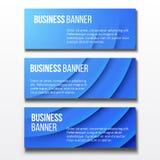 Sistema de tres banderas del negocio Fotografía de archivo libre de regalías