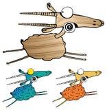 Sistema de tres cabras stock de ilustración