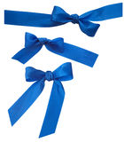 Sistema de tres cintas azules Fotos de archivo libres de regalías