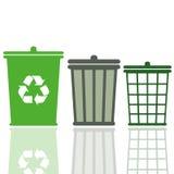 Cubos de la basura Imagen de archivo