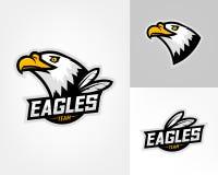 Sistema de tres logotipos del águila Fotos de archivo libres de regalías