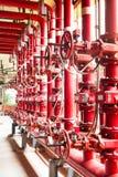 sistema de tubería de abastecimiento de agua de la lucha contra el fuego Imagen de archivo