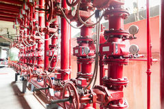 sistema de tubería de abastecimiento de agua de la lucha contra el fuego Fotografía de archivo