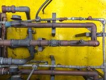 Sistema de tubos de agua, industrial Fotografía de archivo