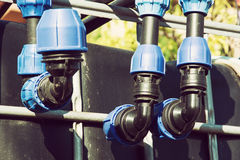 Sistema de tubulação Fotografia de Stock