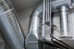 Sistema de tubulações de ventilação Fotografia de Stock Royalty Free