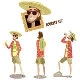 Sistema de turistas ilustración del vector