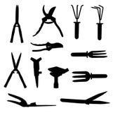 Sistema de utensilios de jardinería. Ejemplo del vector. Imagen de archivo libre de regalías