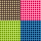 Sistema de vectores inconsútiles del mantel Vector tradicional inconsútil del modelo del mantel Modelo cuadrado simple geométrico Fotos de archivo libres de regalías