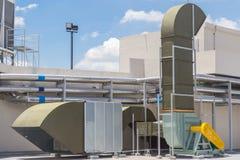 Sistema de ventilação do ar do supermercado grande fotografia de stock royalty free