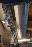 Sistema de ventilação em uma fábrica moderna Fotografia de Stock Royalty Free