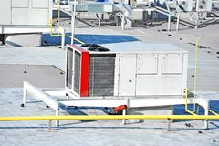 Sistema de ventilação industrial Fotografia de Stock Royalty Free