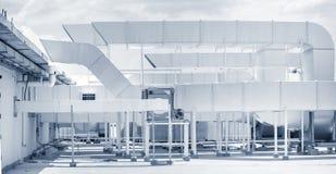 Sistema de ventilação industrial do ar Fotos de Stock Royalty Free