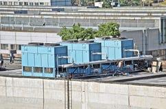 Sistema de ventilación industrial imagen de archivo