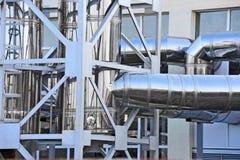 Sistema de ventilación industrial foto de archivo libre de regalías