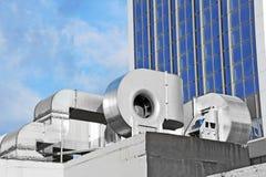 Sistema de ventilación industrial Imagen de archivo libre de regalías