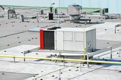 Sistema de ventilación industrial fotos de archivo