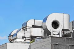 Sistema de ventilación industrial Fotos de archivo libres de regalías