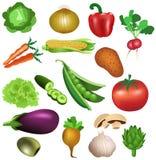 Sistema de verduras Fotos de archivo libres de regalías