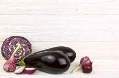 Sistema de verduras púrpuras Imagen de archivo libre de regalías