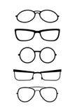Sistema de vidrios del vector en blanco negro Fotografía de archivo