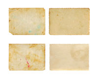 Sistema de vieja textura del papel de la foto Fotos de archivo