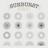 Sistema de vintage Sunbusrt Fotos de archivo