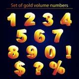 Sistema de volumen de números del oro Foto de archivo