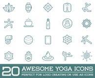 Sistema de yoga Zen Sport Elements del vector Fotografía de archivo libre de regalías