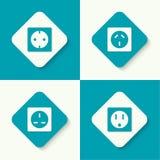 Sistema de zócalos eléctricos de los iconos del vector Imagen de archivo