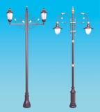 Sistema decorativo de los posts de la lámpara Fotos de archivo