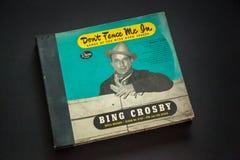 Sistema del álbum de Bing Crosby 78 del vintage imagenes de archivo