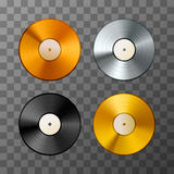 Sistema del álbum de oro, del platino y del bronce, discos del vinilo Imagenes de archivo