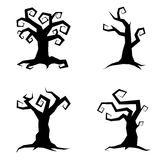 Sistema del árbol de Halloween Ilustración del Vector