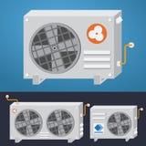 Sistema del acondicionador de aire Ilustración del vector fotografía de archivo libre de regalías