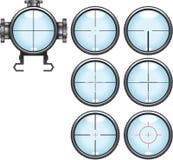 Sistema del alcance del francotirador Imagen de archivo
