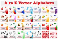 Sistema del alfabeto Foto de archivo libre de regalías