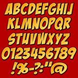 Sistema del alfabeto Fotografía de archivo
