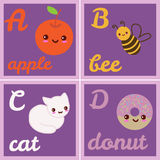 Sistema del alfabeto Imagen de archivo