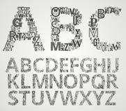 Sistema del alfabeto del vector Fotografía de archivo libre de regalías