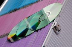 Sistema del almacenaje del CD y de DVD Imagen de archivo libre de regalías